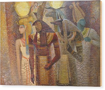 Beginnings. Gods Of Ancient Egypt Wood Print by Valentina Kondrashova