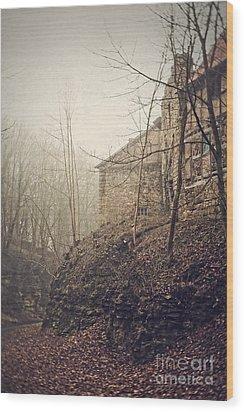Behind Ancient Walls Wood Print