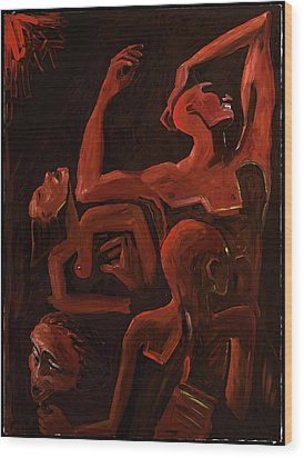 Behind The Mask 48x36 Wood Print