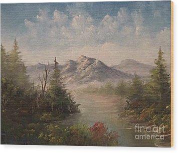 Behind The Pines  Wood Print