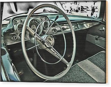 Behind The Wheel Wood Print by Victor Montgomery