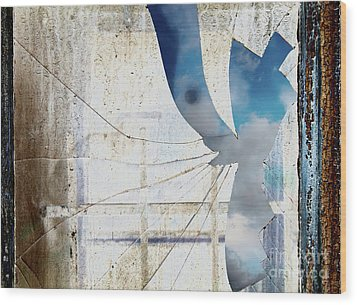 Behind The Window Wood Print by Michal Boubin