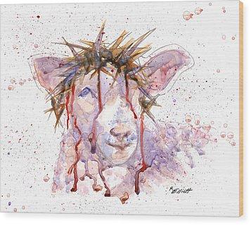 Behold The Lamb Wood Print by Marsha Elliott