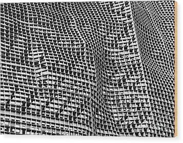 Beijing Modern Wood Print by Dean Harte