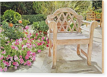 Bel-air Bench Wood Print by David Lloyd Glover