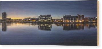 Belfast Near The Docks Wood Print