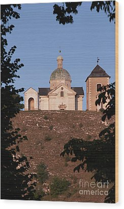 Wood Print featuring the photograph Belfry And Chapel Of Saint Sebastian by Michal Boubin