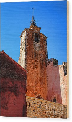 Wood Print featuring the photograph Belfry In Provence by Olivier Le Queinec