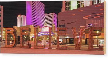 Wood Print featuring the photograph Believe Reno Nevada by Scott McGuire