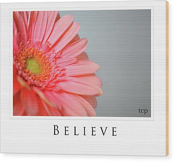 Wood Print featuring the photograph Believe by Traci Cottingham