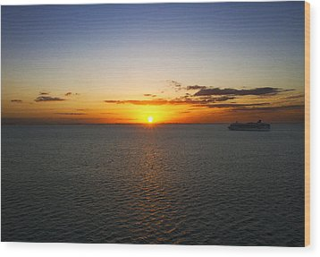 Belize Sunset Wood Print