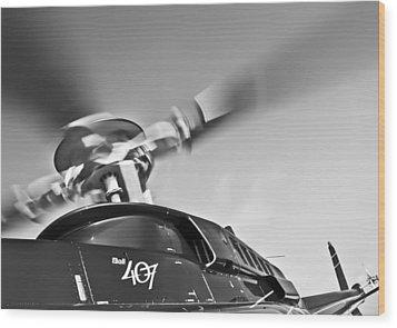 Bell 407 Wood Print