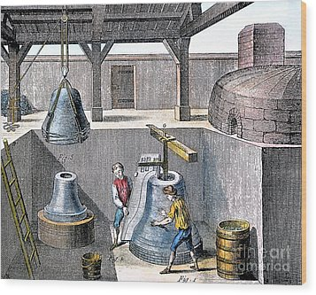Bell Casting, 1763 Wood Print by Granger