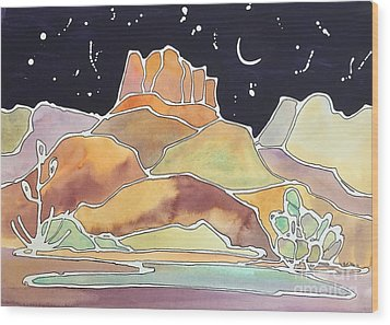 Bell Rock Wood Print by Barbara Tibbets
