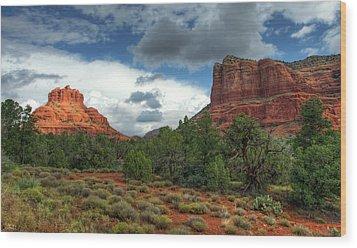 Wood Print featuring the photograph Bell Rock In Sedona  by Saija Lehtonen