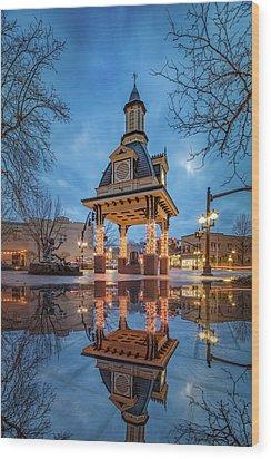 Bell Tower  In Beaver  Wood Print by Emmanuel Panagiotakis
