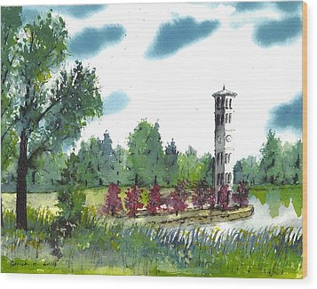 Bell Tower One Wood Print