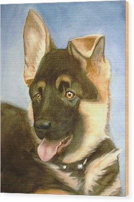 Wood Print featuring the painting Bella by Marilyn Jacobson