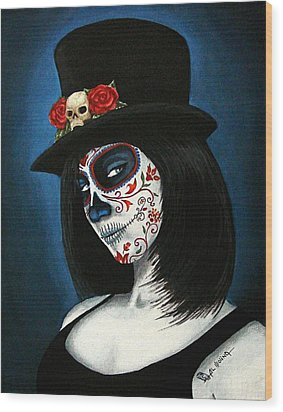 Bella Muerte Wood Print by Al  Molina