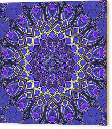 Wood Print featuring the digital art Bella - Purple by Wendy J St Christopher