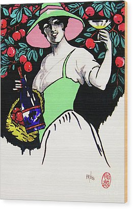 Belladonna And Apples Wood Print by Roberto Prusso