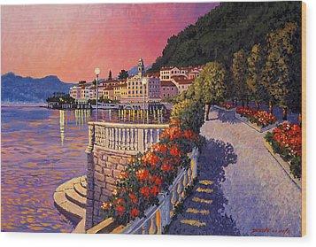 Bellagio Lake Como Wood Print by Santo De Vita