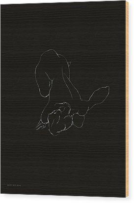 Belle Ligne Wood Print by Antonio Ortiz