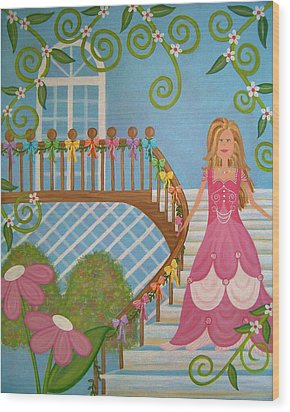 Belle Of The Ball Wood Print by Samantha Shirley