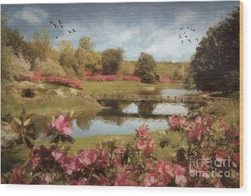 Wood Print featuring the digital art Bellingrath Gardens by Lianne Schneider