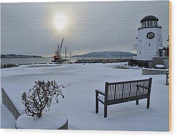 Bellwether In Winter Wood Print by Matthew Adair