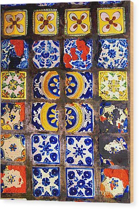 Belmar Tiles By Darian Day Wood Print by Mexicolors Art Photography