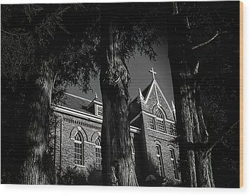Wood Print featuring the photograph Belmont Abbey by Jessica Brawley
