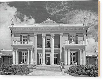 Belmont University Belmont Mansion Wood Print by University Icons