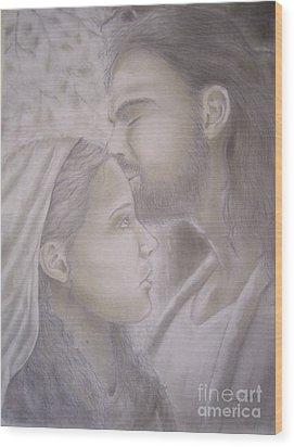 Beloved Disciple Wood Print by Oscar Arauz