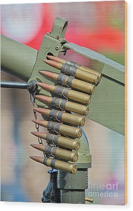 Wood Print featuring the photograph Belt Of Rounds by Chris Dutton