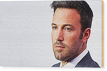 Ben Affleck Wood Print by Iguanna Espinosa