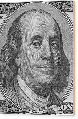 Wood Print featuring the photograph Ben Franklin by Les Cunliffe