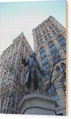 Ben Franklin Wood Print by Rob Hans