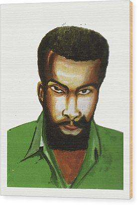 Ben Okri Wood Print by Emmanuel Baliyanga