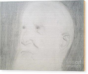 Benard Shaw Sketch Wood Print by Josie Weir