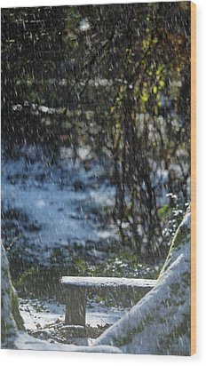 Wood Print featuring the photograph Bench In Snow by Rebecca Cozart