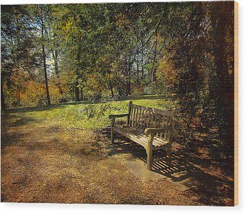 Wood Print featuring the photograph Bench by John Rivera