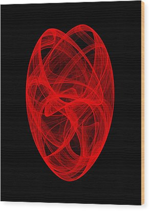 Bends Unraveling II Wood Print by Robert Krawczyk