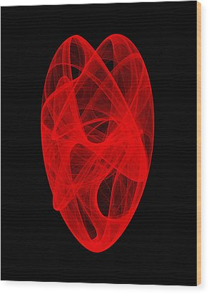 Bends Unraveling IIi Wood Print by Robert Krawczyk