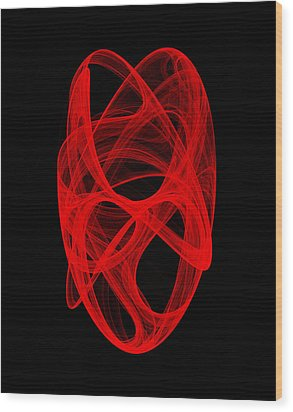 Bends Unraveling Iv Wood Print by Robert Krawczyk
