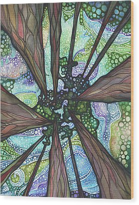 Beneath Magic Wood Print