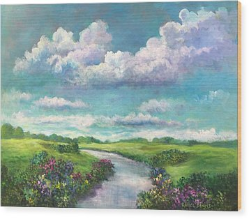 Beneath The Clouds Of Paradise Wood Print