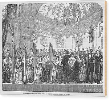 Benefit Concert, 1853 Wood Print by Granger