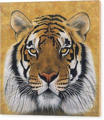 Bengali II Wood Print by Lawrence Supino