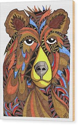 Benjamin Bear Wood Print